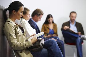 People sitting in waiting room