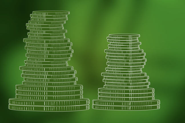 Image of coin piles