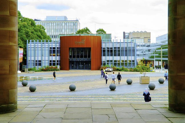 View of Coventry and Coventry University Building