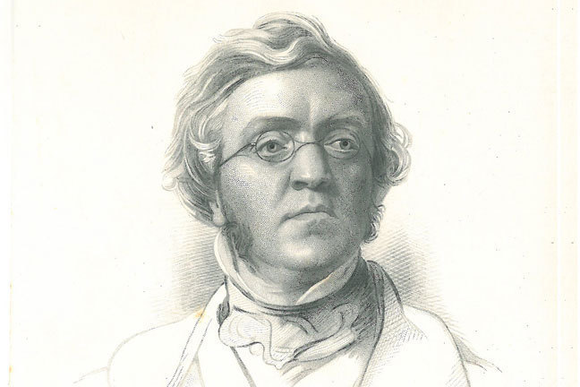 Engraved portrait of William Makepeace Thackeray