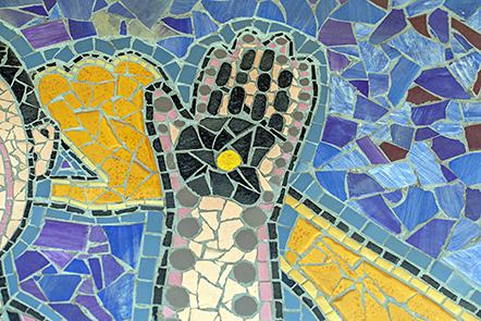 Body maps mosaic: hand