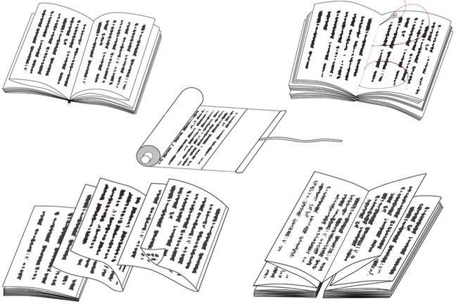 Five major book binding styles