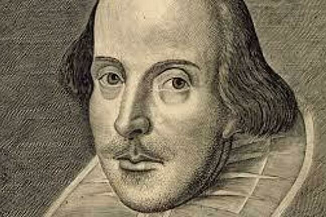 An etching of William Shakespeare.