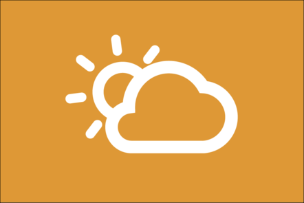 Weather icon of the sun and a cloud