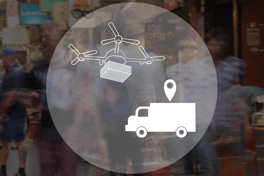 Drones and driveless trucks