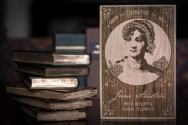 Picture of Jane Austen and some books