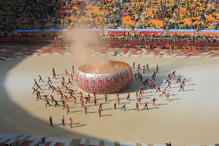 Opening ceremony of the 2010 South African World Cup.