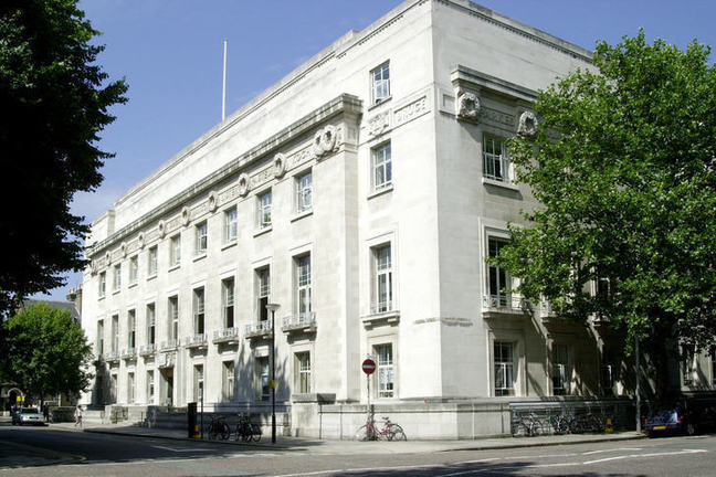 The London School of Hygiene and Tropical Medicine building on Keppel Street