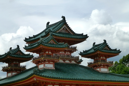 Roof of a shrine