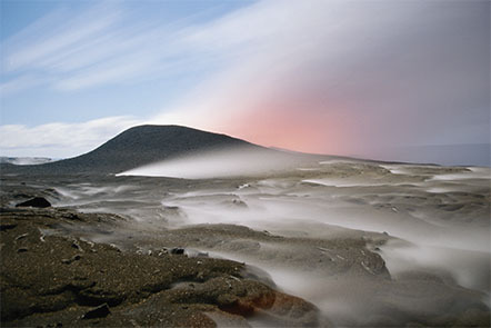 Steam escaping from vents on the Kilauea Volcano in Hawaii.