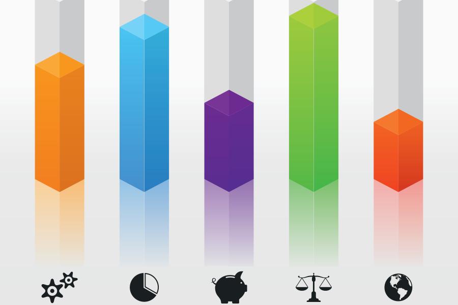 Mock bar chart implying a visual representation of data