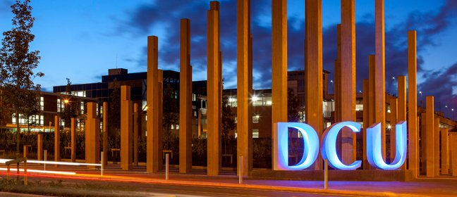 Dublin City University campus at night