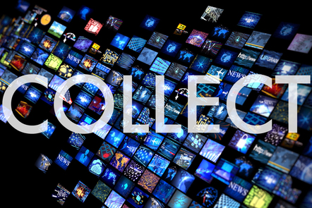 Collect graphic title card