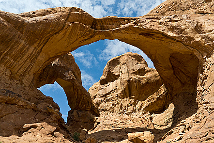 Rock formations: double arches
