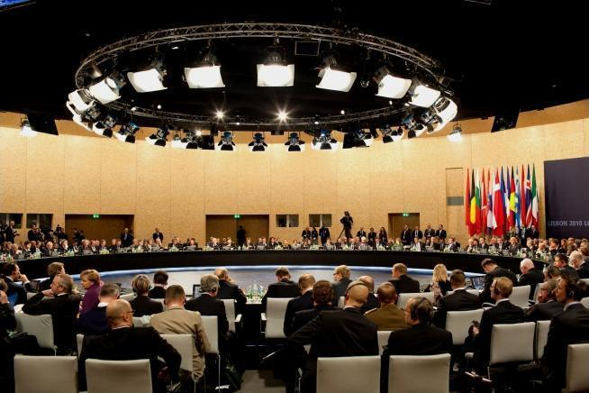 World leaders participate in the North Atlantic Council opening session on the first day of the Summit in Lisbon, Portugal, Nov. 19, 2010.