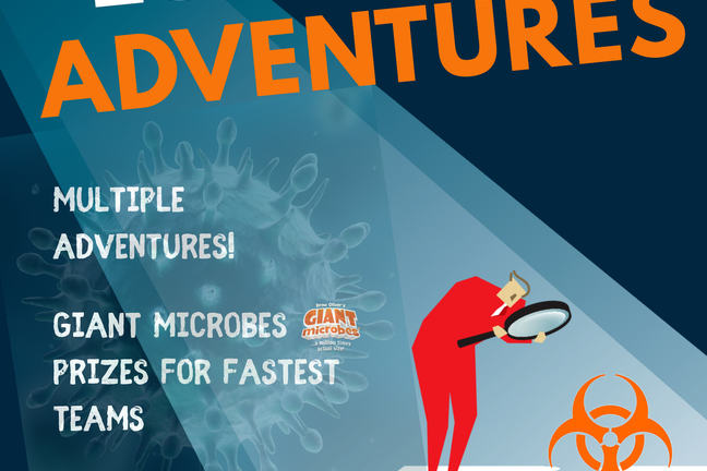Poster for iGEM advertising biosecurity escape games