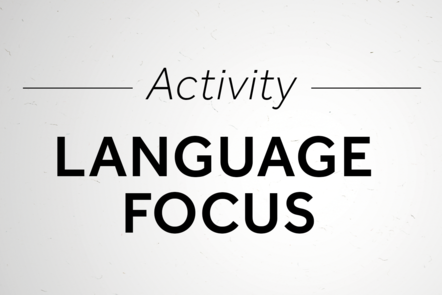 Language focus activity