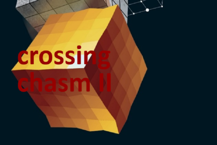 "Part of Scale-up Manual front cover image with the words ""crossing chasm II""."