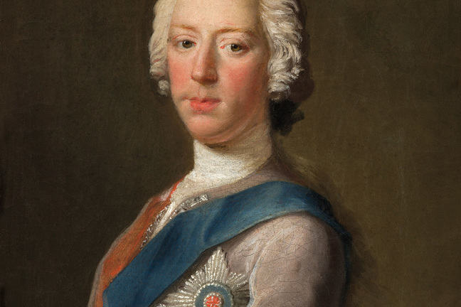 Portait of Prince Charles Edward Stuart or Bonnie Prince Charlie, wearing white powdered wig