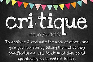 The image is of a critique definition.