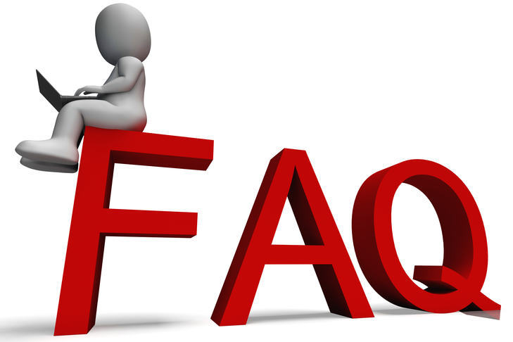 Image with FAQ to represent Frequently Asked Questions