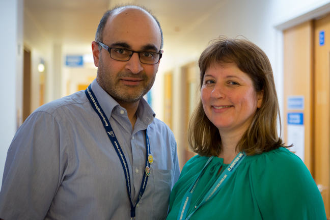 Dr Mayank Patel and Dr Nicola Englyst
