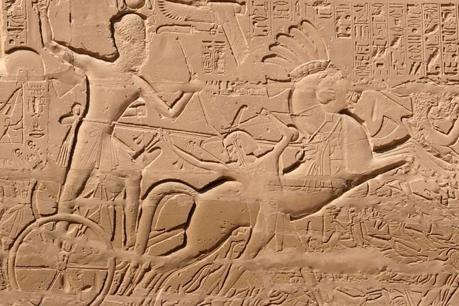 Egypt's Seti I as a chariot-driving military hero: an image that owes much to Mitanni.