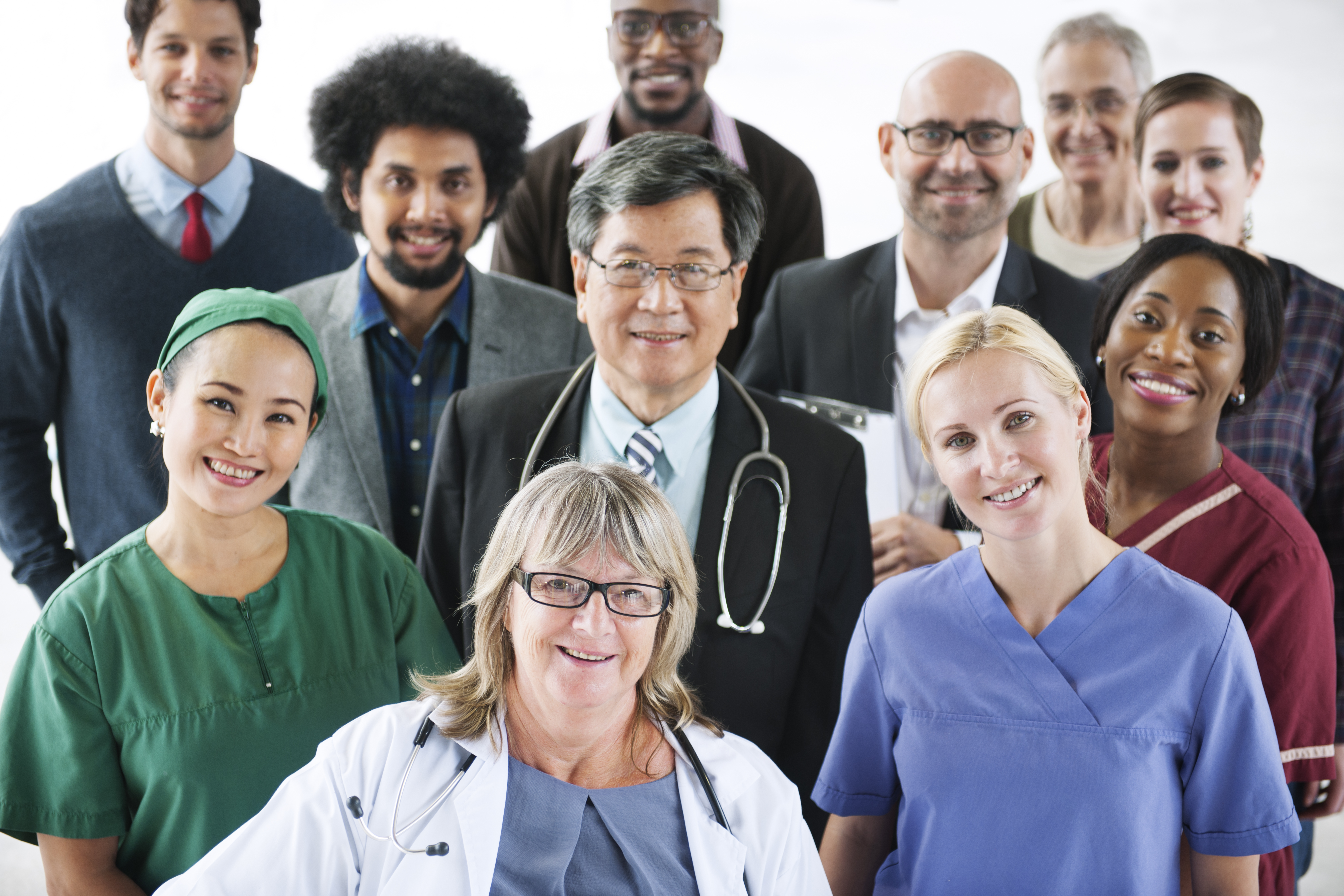 A group of smiling medical professionals