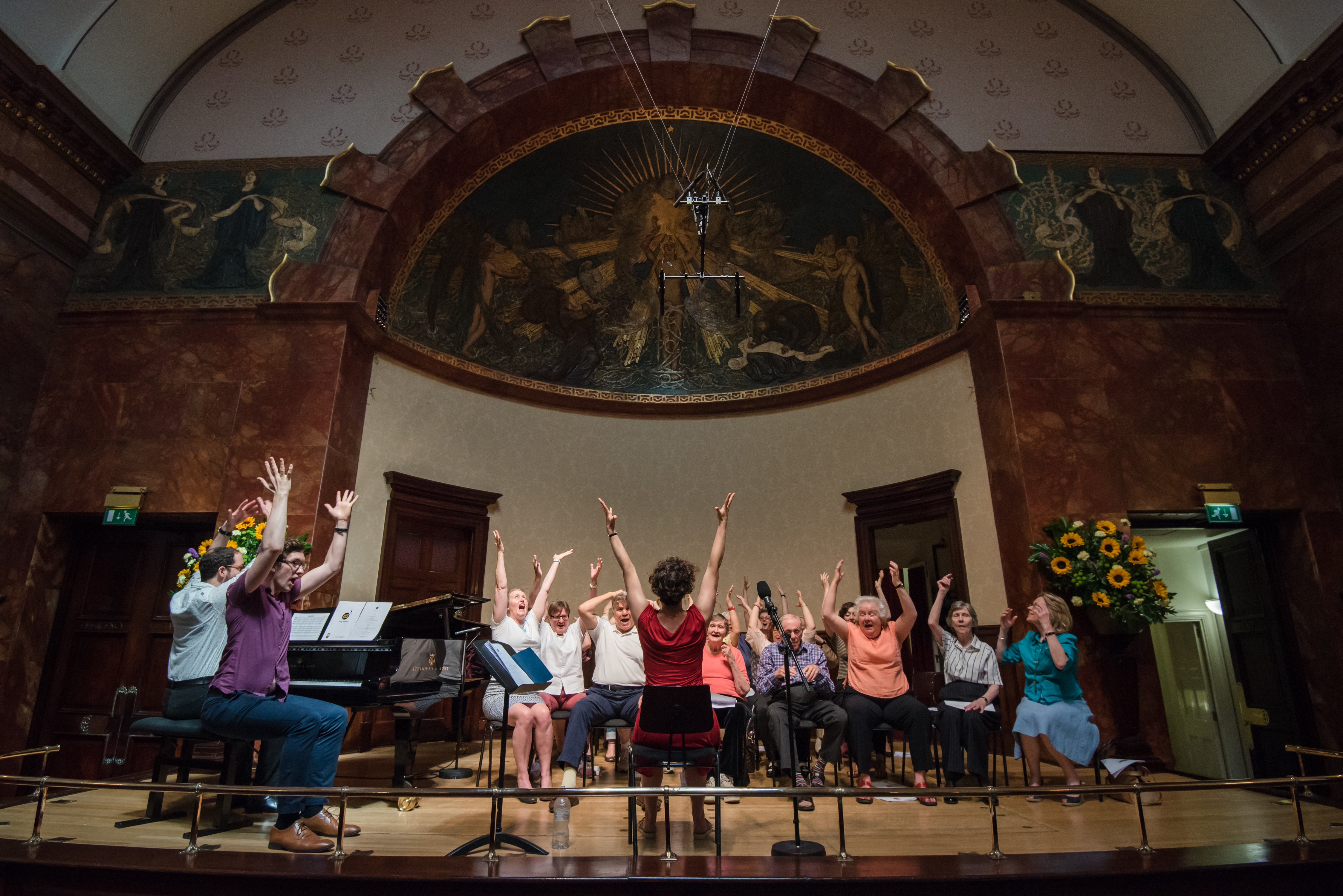 Photograph of the Singing With Friends choir group at Wigmore Hall