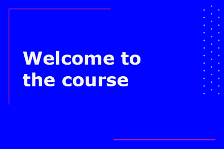 PFP01-Title card-Welcome to the course