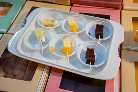 treats on a tray
