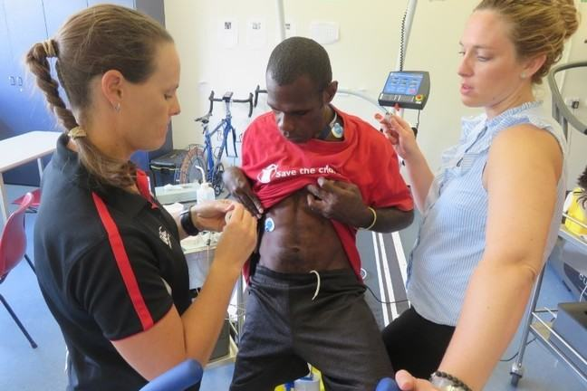 GAPS Programme leaders testing an athlete using sports science