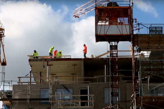 Stockholm building site