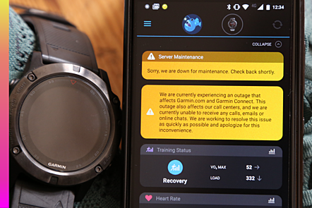 BERLIN, GERMANY - JULY 25: Wearable device company Garmin experience a widespread blackout, that has left its fitness devices, website and call centers offline for 3 days.
