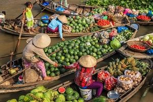 Fruit sellers in Vietnam