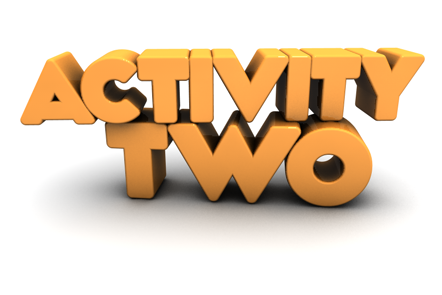 Activity Two in 3D lettering