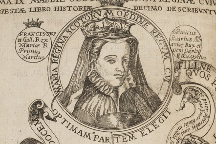 Engraved portrait of Mary Queen of Scots
