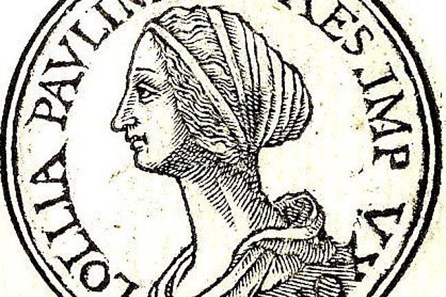 A side profile illustration of Lollia Paulina from the Promptuarii Iconum Insigniorum