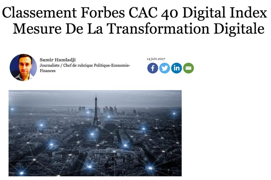 Maturité digitale selon Forbes
