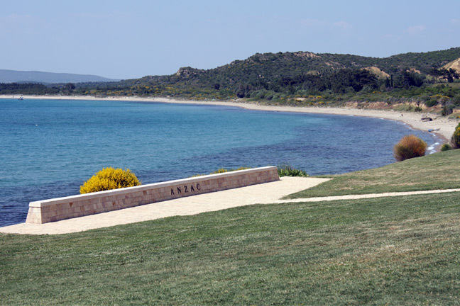 Photo graph of ANZAC cover in Gallipoli, Turkey.