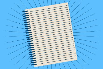 A lined notepad