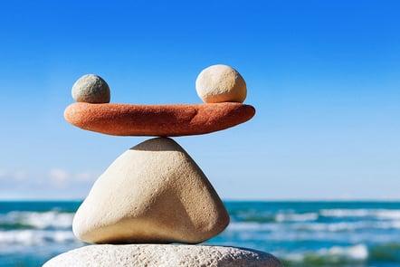 A photo of balanced rocks