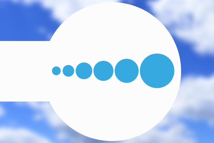 Origins- size ascending circles