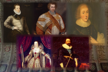 Portraits of the Sidney family of writers