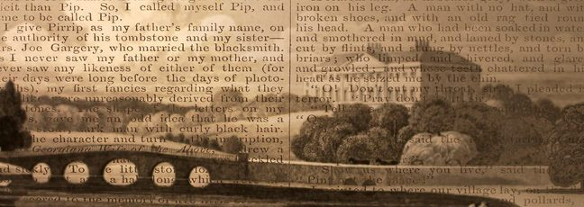 A page from Great Expectations by Dickens