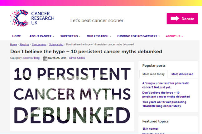 Cancer Research UK blog