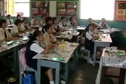 A classroom in Malaysia