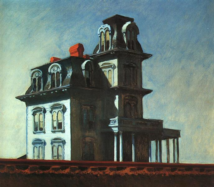 Image of painting by Edward Hopper *The House by the Railroad* (1925)