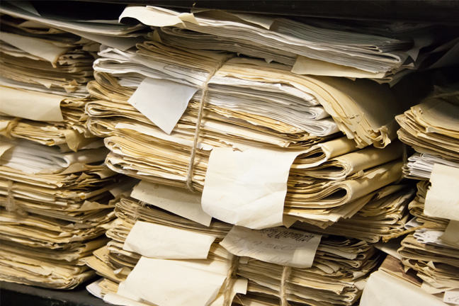piles of old documents
