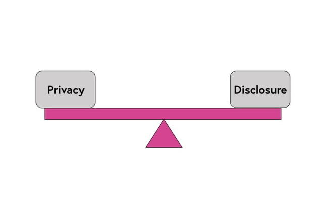 privacy disclosure sea-saw